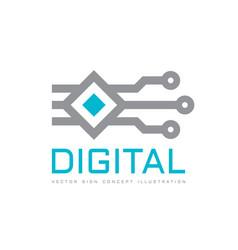 Digital technology - logo icon template vector