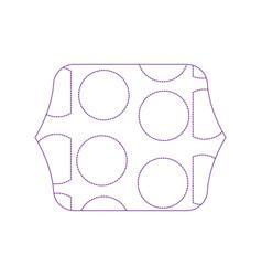 Dotty shape quadrate with memphis geometric figure vector