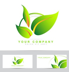 Ecology or bio leafs logo vector