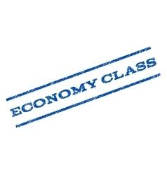 Economy Class Watermark Stamp vector