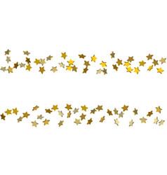 falling confetti stars vector image
