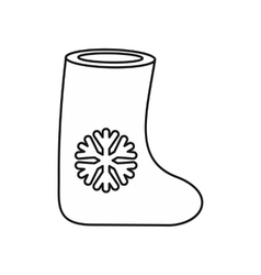 Felt boot icon outline style vector