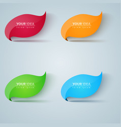five green leaf vector image