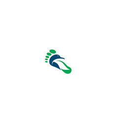 foot logo icon vector image