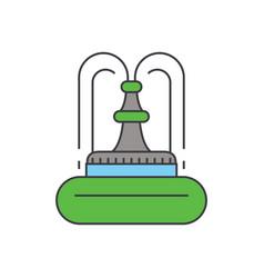 fountain line icon concept fountain flat vector image