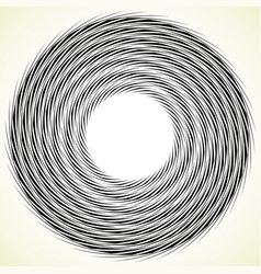 Geometric spiral element rotating spinning vector