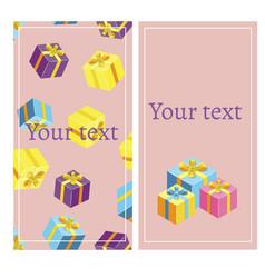 gift voucher template banner vector image