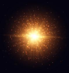 golden light natural effect magic outburst vector image