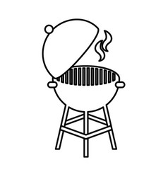 Grilled barbeque isolated icon vector