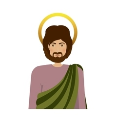 Half body colorful figure human of saint joseph vector