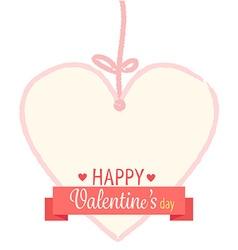 happy valentines day ribbon vector image