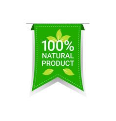 Healthy organic vegan market logo natural product vector