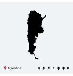 High detailed map of Argentina with navigation vector image
