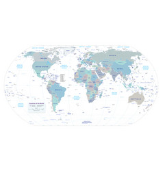 Highly detailed political world map eps 10 vector