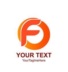 Initial letter f logo template colorfull circle vector