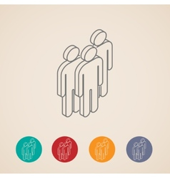 isometric icons people group vector image