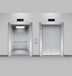 Lift doors building business office facade vector