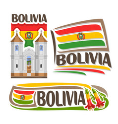 Logo bolivia vector
