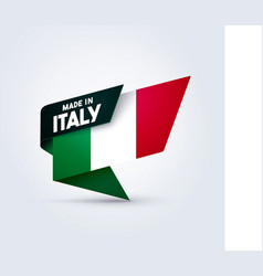 Made in italy flag pin vector