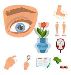 Mellitus and diabetes icon vector