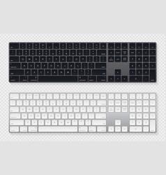 Modern grey laptop bluetooth keyboard pack vector