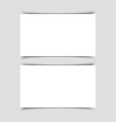 mok-up two horizontal business cards vector image
