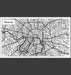 Moscow russia city map in black and white color vector