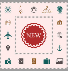 New offer icon elements for your design vector