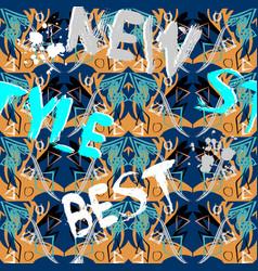 new style best stylish grunge geometric vector image