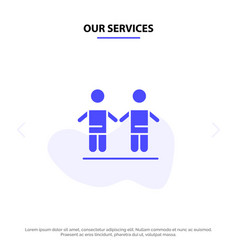 our services best friends friendship group solid vector image