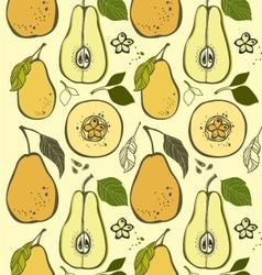 Pear pattern vector