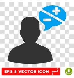 Person Arguments Balloon Eps Icon vector