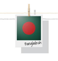 photo of bangladesh flag vector image