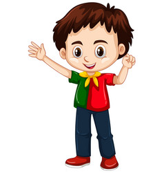 Portugal boy waving hand vector