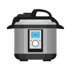 Pressure cooker icon flat style vector