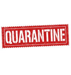 quarantine sign or stamp vector image