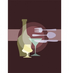 restaurant and dining vector image