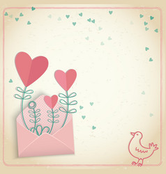 Romantic valentines day postcard vector