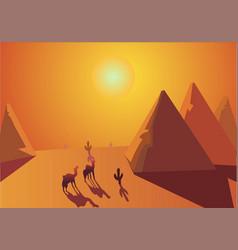 Sahara desert cairo egypt vector
