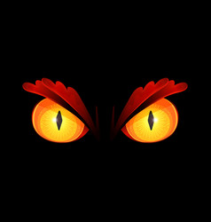 Scary yellow eyes vector
