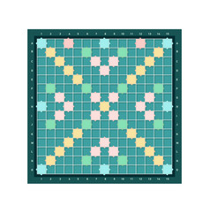 Scrabble or erudite square board design with grid vector