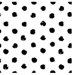 seamless pattern from little black textured vector image