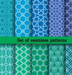 set 2 seamless patterns vector image