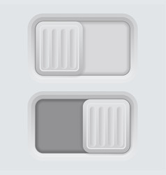 slider gray 3d push buttons vector image
