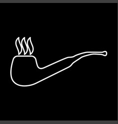 Smoking pipe it is icon vector