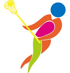 Sport icon design for lacrosse in color vector image