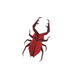Stylized staghorn beetle vector image