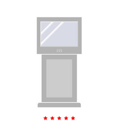 terminal stand with touch screen icon vector image