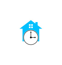 time house icon logo design element vector image
