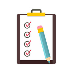 To do list icon flat style vector